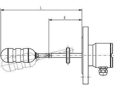 Horizontální plovákový spínač HLS